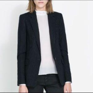 Zara navy pinstripe blazer